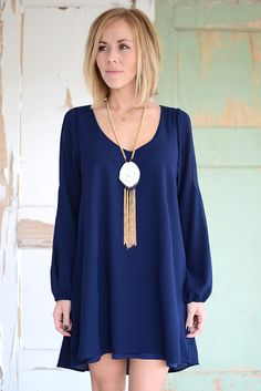 Alessandra Dress- Navy