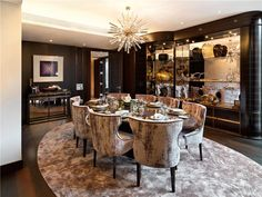 Property for sale - One Hyde Park, Knightsbridge, London, Luxury Dining Tables, Luxury Dining Room, Dining Room Design, Dining Area, Kitchen Dining, Dining Rooms, Luxury Home Decor, Luxury Interior, One Hyde Park