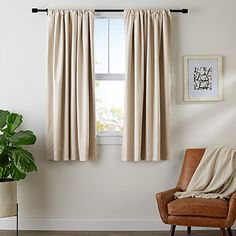 Short Curtains Kitchen Blackout Curtains Window Treatments Curtains Home Decor Boys Bedroom Curtains, Bedroom Doors, Bedrooms, Window Treatments Living Room, Living Room Windows, Curtains To Keep Heat Out, Blackout Curtains, Drapes Curtains, Room Cooler