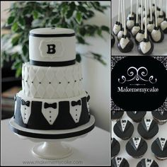 Tuxedo+Party+-+Cake+by+Makememycake