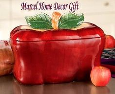 Apple Bread Box Canister Home Decor Gift Red Kitchen Pantry Breadbox Storage Jar   Home & Garden, Kitchen, Dining & Bar, Kitchen Storage & Organization   eBay!