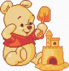 Patrones punto de cruz gratis en formato PDF: Winnie Pooh Cross Stitch Patterns - Punto de cruz