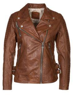 Women Leather Jacket, Slim Jacket, Leather Biker Jacket In Brown, Black and Red. Handmade leather Jacket , Cross Zipper Jacket