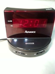Working Advance Alarm Clock Model 3151 With Red Light & Snooze In Good Condition Digital Alarm Clock, Night Light, Consumer Electronics, Conditioner, Home And Garden, Led, Model, Ebay
