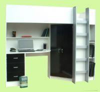 Calder High Sleeper Cabin Bed inc Wardrobe, Chest of Drawers, Bookcase, Desk, Shelving M2270