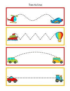 Great to practice pre-writing skills during transportation week. Put this in your handwriting center to reinforce the theme.