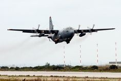 An EC-130H Compass Call, assigned to the 398th Air Expeditionary Group, takes off from a forward deployed operating base located in the Mediterranean region in support of Operation Iraqi Freedom. (U.S. Air Force photo by Tech Sgt. Robert J. Horstman)