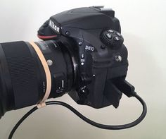 A Rubber Band Can Take the Stress Off Your Camera's Tether Cable