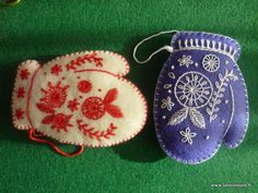felt mitten ornaments from La Bastidane Blog.