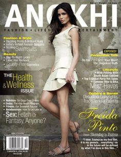 Freida Pinto on Anokhi Magazine - July 2012