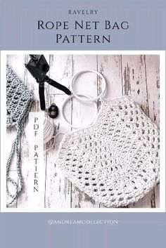 Pdf Pattern + Step by Step Video Tutorial Crochet Rope, Double Crochet, Crochet Stitches, Pdf Patterns, Crochet Patterns, Crochet Christmas Gifts, Crochet Patron, Net Bag, Crochet Videos