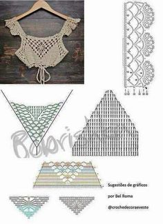 Pin by bas on βελονκι This Pin was discovered by Nhu Dê um toque decorativo e fashi With interesting construction and tons of texture,Imagini pentru tops a crochet patrones This Pin was discovered by Nar 98 Likes, 2 Comments - Super Crochet Halter Tops, Motif Bikini Crochet, Col Crochet, Beau Crochet, Crochet Bra, Crochet Crop Top, Crochet Summer Tops, Crochet Chart, Crochet Clothes