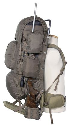 Hunting Rifle BackPack External Frame Fishing Camping Bag Women Holder Travel  #ALPSMountaineering