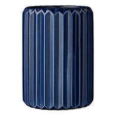 Cylindrical Navy Ceramic Fluted Vase Bloomingville https://www.amazon.com/dp/B01CCD6ZSS/ref=cm_sw_r_pi_dp_x_XGSlzb6KTFFPF