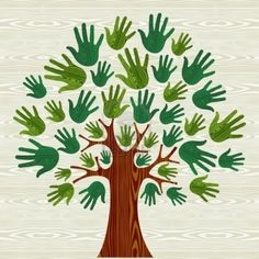 Eco Friendly Tree Hands Illustration For Greeting Card Over Wooden.. Royalty Free Cliparts, Vectors, And Stock Illustration. Image 16105719.