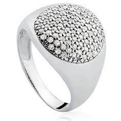 Anel Ouro Branco e Diamante Lumiére VIVARA                                                                                                                                                                                 Mais