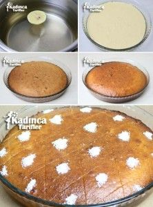 Yogurt Dessert Recipe, How To? - Womanly Recipes - Delicious, Practical and Delicious Food Recipes Site, Cake Recipe Using Buttermilk, Cake Recipes, Dessert Recipes, Turkish Sweets, Recipe Sites, Breakfast Items, Turkish Recipes, Savoury Cake, Food And Drink