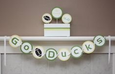 U of O Go Ducks Banner- Also Available in OSU Beavers / Civil War Party Decorations