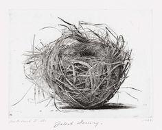 iamjapanese:  Jakob Demus(Austrian, b.1959) Birds nest Ⅱ 1989 Diamond drypoint
