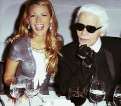 Blake Lively and Karl Lagerfeld