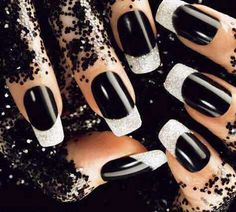 I've had mine like these and loved them.... Black and Silver Glitter....