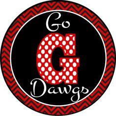 Football time in Georgia Go Dawgs by GigglesToGo on Etsy