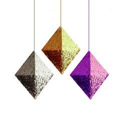 Amazing Etsy Shop PomJoyFun! I love their creations! Diamond Piñata in Gold, Silver or Hot Pink Pyramid Piñata Octahedron Metallic Piñata Wedding Piñata Baby Shower Piñata