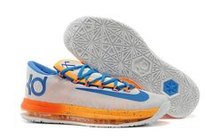 6fc283219e33 KD 6 Fashion Elite Home Pure Platinum Photo Blue Total Orange White Nike Kd  Shoes