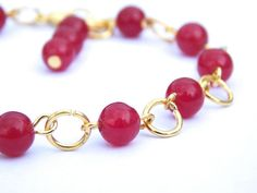 Red Carnelian Bracelet | FREE UK DELIVERY | Carnelian Bead Bracelet | Phillipa Jane Designs | Christmas Gift for Her | Semi Precious Stones