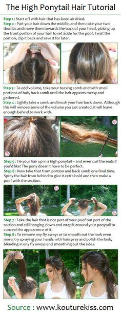 The High Ponytail Hair Tutorial