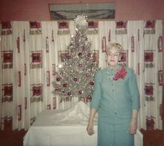 Minnie liked to make a statement with her holiday corsage. It needed to be nearly the size of the tree.