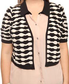 Striped Matelasse Cardi