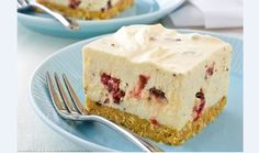 A delightful cheesecake for the kids who will love the bits of chocolate, cherry, and coconut mixed through. Kiwi Recipes, Cupcake Recipes, Sweet Recipes, Baking Recipes, Dessert Recipes, Cherry And Chocolate Cheesecake, Chocolate Cherry, Good Desserts To Make, Mini Desserts