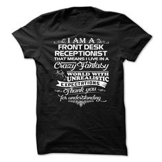 Awesome Front Desk Receptionist Shirt!-gwpqzuvvdy #tee #style