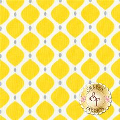 Gray Matters More 4140413-2 Yellow Geo By Jacqueline Savage McFee For Camelot Fabrics