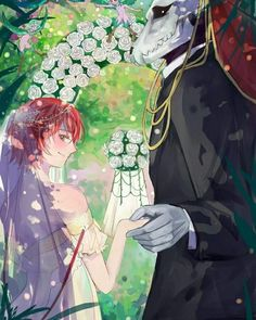 I reeeeally love this anime~! they're look so perfect together despite of the differences between them Chise should smile more tho, she'll l. Elias X Chise Sailor Moon, Manga, Elias Ainsworth, Chise Hatori, The Ancient Magus Bride, Bride Pictures, Deviantart, Dark Fantasy Art, Fan Art