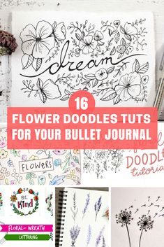 Take your doodles to the next level with these step by step tutorials of how to draw flower doodles and other fun things in your bullet journal! Plant Drawing, Drawing Flowers, Flower Drawings, Drawing Drawing, Drawing Skills, Bubble, Bujo Doodles, You Doodle, Doodle Art Journals