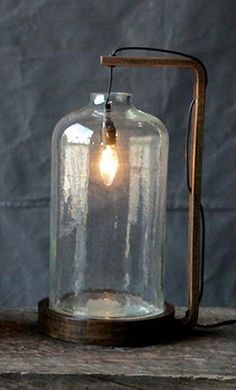 Bell glass lamp