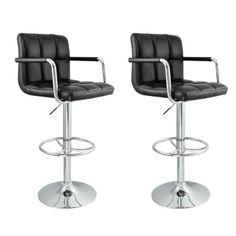2 Swivel Bar Stool Black w/ Arm PU Leather Modern Adjustable Hydraulic Barstool Talentstar http://smile.amazon.com/dp/B00EZS7K6A/ref=cm_sw_r_pi_dp_bRXbub11KGRJM