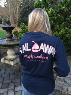Sail Away Long Sleeve Spirit Wear Simply Southern Shirts, T Shirt Company, Spirit Shirts, Spirit Wear, Cute Shirts, Shirt Jacket, Preppy, What To Wear, Style Me