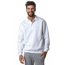 #Sweater polo heren van 35% polyester en 65% katoen - Bedrukken met eigen logo of tekst op Bedrukken.nl