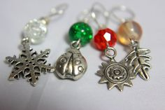 The Seasons Stitch Markers by midnightscribbles on Etsy