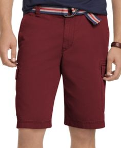 Burgundy Shorts Mens