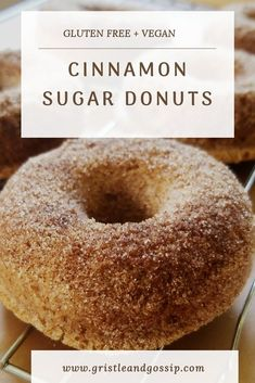 Sugar Free Donuts, Gluten Free Doughnuts, Gluten Free Sugar Cookies, Gluten Free Sweets, Gluten Free Baking, Vegan Baking, Gluten Free Dairy Free Donut Recipe, Baked Donut Recipes, Baked Donuts