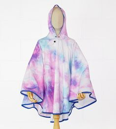 Colourful Waterproof Poncho Cape - PonchU Waterproof Poncho, Rain Poncho, Cape, Tie Dye, Ballet Skirt, Skirts, Collection, Color, Fashion