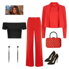 """Melania Style"" by chauert ❤ liked on Polyvore featuring Alice + Olivia and ADORNIA"