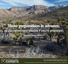 """""""Make preparations in advance as you never have trouble if you're prepared. Survival Quotes, Roosevelt, You Never, Motivational Quotes, Prayers, How To Make, Ideas, Motivating Quotes, Prayer"""