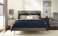 Navy And Gray Bedroom On Pinterest | Gray, Blue Accent Walls And Navy