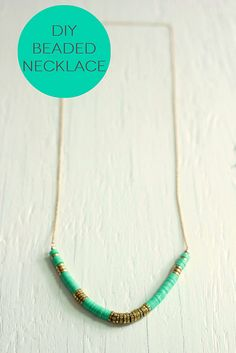 DIY Beaded Necklace Tutorial This DIY necklace tutorial shows you how to make a beaded necklace, using either African vinyl discs, sequins o...