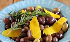 Maggie Beer's Mixed Olives with Orange and Rosemary (or cardamom)
